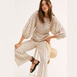Free People Kenny Striped One-Piece Jumpsuit